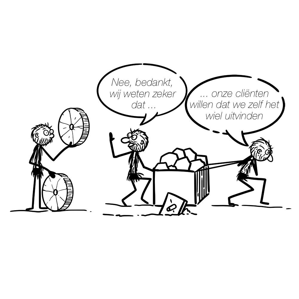 vierkante wielen zelf wiel uitvinden